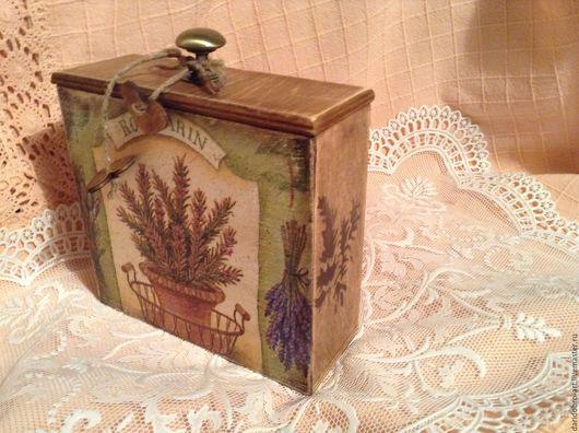 """Кухня ручной работы. Ярмарка Мастеров - ручная работа. Купить """"Аромат пряных трав"""" короб для хранения. Handmade. Короб для хранения"""