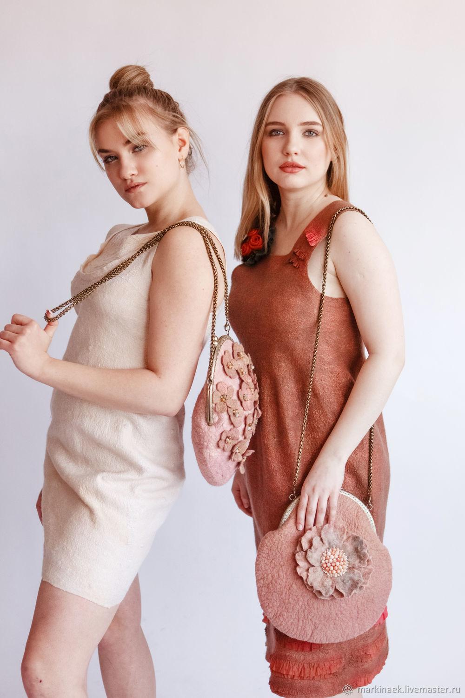 Bag with clasp: felt bag ' Gentle sunset', Clasp Bag, Kamensk-Shahtinskij,  Фото №1