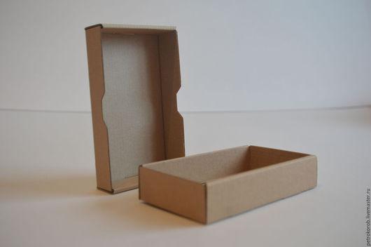 Упаковка ручной работы. Ярмарка Мастеров - ручная работа. Купить Самосборная коробка 009 (15х8х3см). Handmade. Коричневый, картонная упаковка
