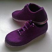 """Обувь ручной работы. Ярмарка Мастеров - ручная работа Валяные туфли """"Сирень"""". Handmade."""