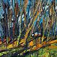 Анна Крюкова impression-живопись Авторская картина пейзаж купить Осенние краски цвета Золотая осень Осень картина масло холст