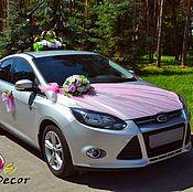 Свадебный салон ручной работы. Ярмарка Мастеров - ручная работа свадебное украшение на авто №18. Handmade.