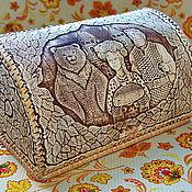 """Для дома и интерьера ручной работы. Ярмарка Мастеров - ручная работа Хлебница из бересты """"Хлеб да соль"""". Handmade."""
