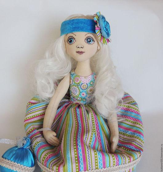 Коллекционные куклы ручной работы. Ярмарка Мастеров - ручная работа. Купить Бэлла. Handmade. Голубой, подарок женщине, кукла текстильная