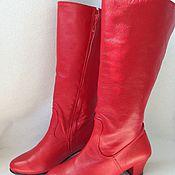 Обувь ручной работы. Ярмарка Мастеров - ручная работа Сапожки красные. Handmade.