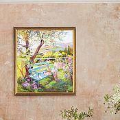 Картины и панно handmade. Livemaster - original item Sunny day. 60h70 cm, oil Painting. Handmade.