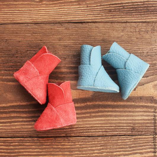 Куклы тыквоголовки ручной работы. Ярмарка Мастеров - ручная работа. Купить Сапожки/угги для интерьерных кукол. Handmade. Разноцветный, туфли для куклы