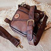 Сумки и аксессуары handmade. Livemaster - original item leather bag, hip-shoulder. Handmade.