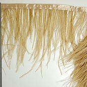 handmade. Livemaster - original item Trim of ostrich feathers 10-15 cm very light blue. Handmade.