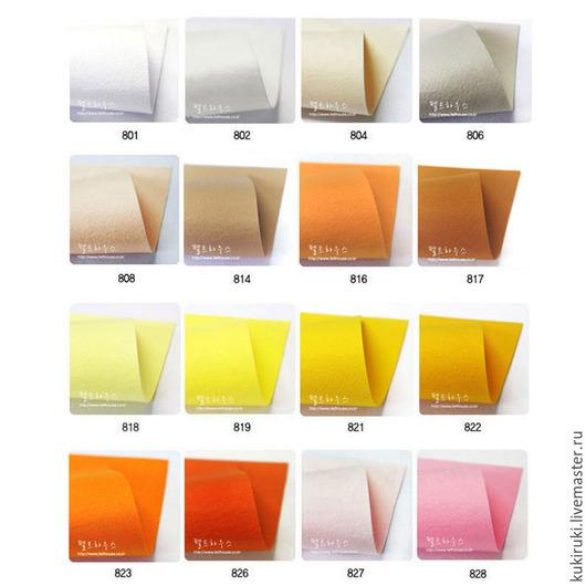 Валяние ручной работы. Ярмарка Мастеров - ручная работа. Купить Жесткий корейский фетр 1.2 мм. Handmade. Разноцветный