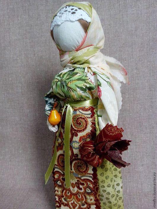 Народные куклы ручной работы. Ярмарка Мастеров - ручная работа. Купить Кукла-столбушка Грушенька. Handmade. Салатовый, русская кукла