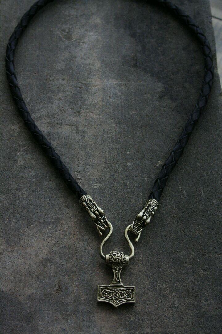 Pendant on a leather cord Hammer of Thor, Pendants, Volgograd,  Фото №1
