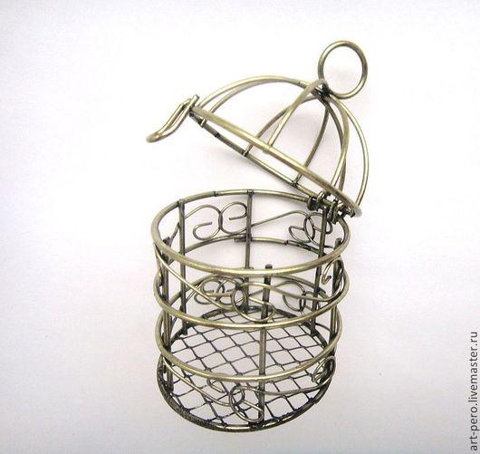 Другие виды рукоделия ручной работы. Ярмарка Мастеров - ручная работа. Купить Подвеска Клетка. Handmade. Коричневый, клетка для птички