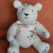 Куклы и игрушки ручной работы. Ярмарка Мастеров - ручная работа Медведь с вышивкой. Handmade.