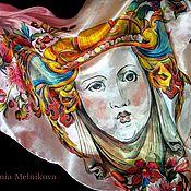 """Аксессуары ручной работы. Ярмарка Мастеров - ручная работа Шелковый платок """"Муза"""". Handmade."""