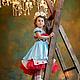 Заказать Алиса в стране чудес. Карнавальный костюм нарядное платье. Юлия Кихтенко. Детские платья. Ярмарка Мастеров. . Платья Фото №3
