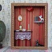 Куклы и игрушки ручной работы. Ярмарка Мастеров - ручная работа Гостиная Бордо. Handmade.