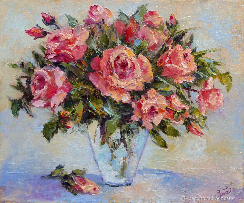 Oil painting flowers \