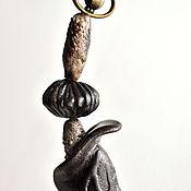 """Украшения ручной работы. Ярмарка Мастеров - ручная работа Колье """"Ярсагумба"""", черный фарфор.. Handmade."""
