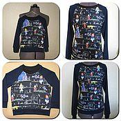 Одежда ручной работы. Ярмарка Мастеров - ручная работа детский свитшот принт D&G. Handmade.