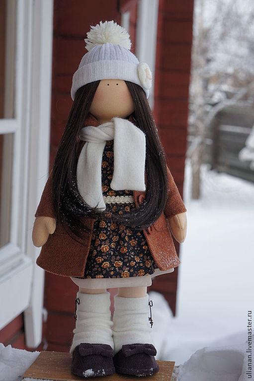 Человечки ручной работы. Ярмарка Мастеров - ручная работа. Купить Кукла Варенька.. Handmade. Коричневый, трикотаж