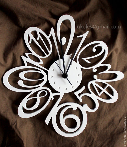 Часы для дома ручной работы. Ярмарка Мастеров - ручная работа. Купить Настенные часы. Handmade. Белый, для дома, подарок, пластик