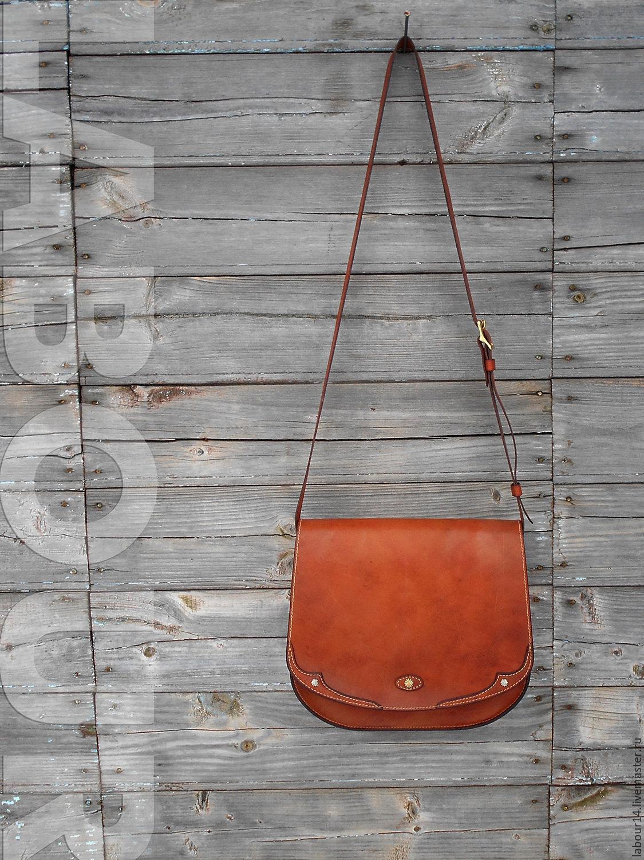 Leather bag OLLE, saddle bag, messenger, Messenger Bag, Sevsk,  Фото №1