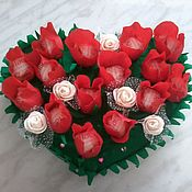Цветы и флористика handmade. Livemaster - original item Candy bouquet-heart. Handmade.