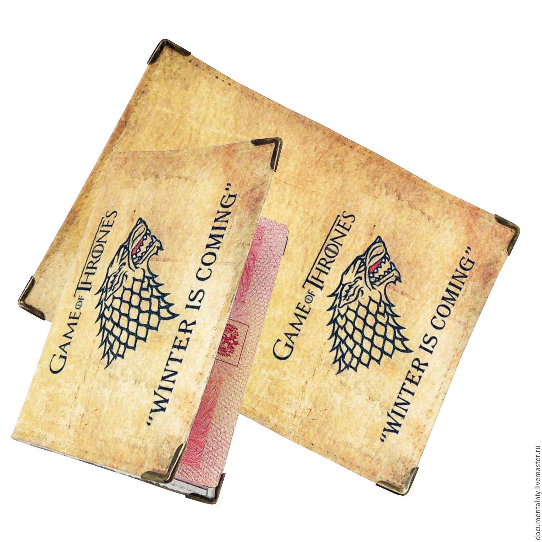 """Обложка на паспорт, обложка для документов """"Game of Thrones"""", Passport cover, Obninsk,  Фото №1"""