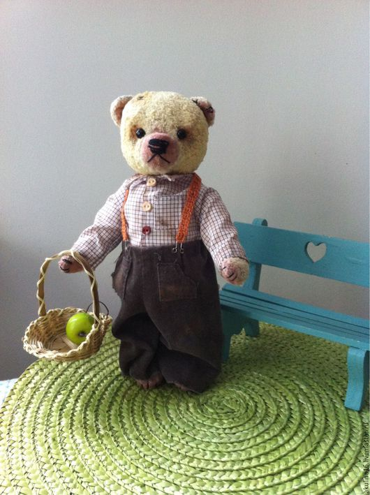 Мишки Тедди ручной работы. Ярмарка Мастеров - ручная работа. Купить Мишки Тедди . Федор.. Handmade. Teddy bear, холофайбер