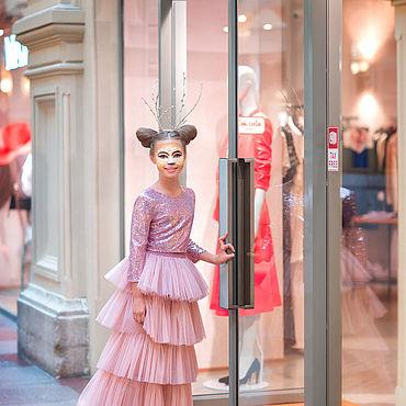 Одежда ручной работы. Ярмарка Мастеров - ручная работа Юбки: Юбка Pink Flower. Handmade.