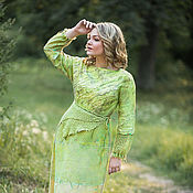 Одежда handmade. Livemaster - original item Dress lime boho. Handmade.