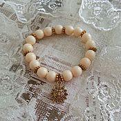 Украшения handmade. Livemaster - original item Bracelet Ivory with pendant sun. Handmade.
