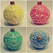 """Косметика ручной работы. Ярмарка Мастеров - ручная работа Мыло""""новогодний шар"""". Handmade."""
