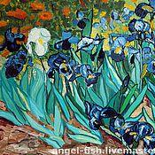 """Картины и панно ручной работы. Ярмарка Мастеров - ручная работа """"Ирисы"""" Ван Гога. Handmade."""