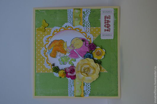 Открытки на день рождения ручной работы. Ярмарка Мастеров - ручная работа. Купить открытка. Handmade. Желтый, цветы бумажные