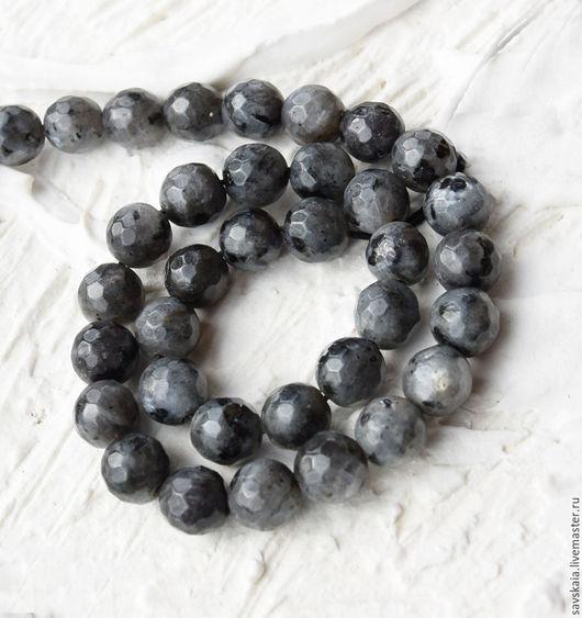 Бусины Гранит граненый, серый, натуральный камень