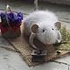 Игрушки животные, ручной работы. Ярмарка Мастеров - ручная работа. Купить Пикник. Handmade. Мышка, белый, проволочный каркас