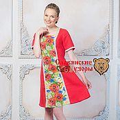 """Одежда ручной работы. Ярмарка Мастеров - ручная работа Платье """"Маки"""" на красном. Handmade."""