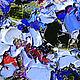 """Пейзаж ручной работы. Заказать """"Цветочный Бриз"""" - картина маслом Испания. ЯРКИЕ КАРТИНЫ Наталии Ширяевой. Ярмарка Мастеров. Голубой"""