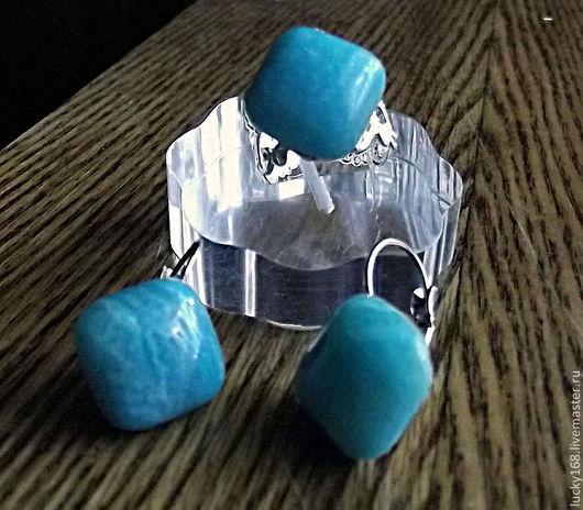 Кольца ручной работы. Ярмарка Мастеров - ручная работа. Купить Кольца, сережки. Handmade. Кошачий глаз имитация, родонит