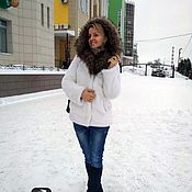 Одежда handmade. Livemaster - original item Under the fur coat white mink. Handmade.