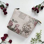handmade. Livemaster - original item Zippered Cosmetic Bag Vintage style. Handmade.