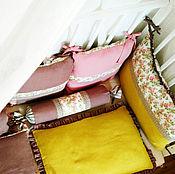 Для дома и интерьера ручной работы. Ярмарка Мастеров - ручная работа Постельное белье для новорожденных в кроватку.. Handmade.