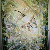 """Картины и панно ручной работы. Ярмарка Мастеров - ручная работа Панно """"Летние встречи"""". Handmade."""