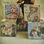"""Куклы и игрушки ручной работы. Ярмарка Мастеров - ручная работа Кубики """"Верные друзья"""". Handmade."""