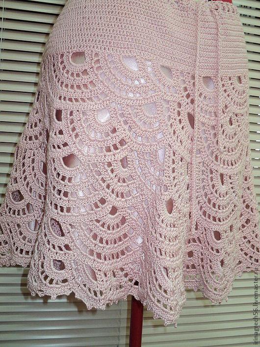 Юбки ручной работы. Ярмарка Мастеров - ручная работа. Купить юбка на кокетке. Handmade. Розовый, оригинальный подарок, 100% хлопок