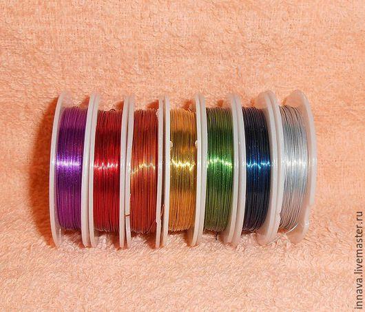 Другие виды рукоделия ручной работы. Ярмарка Мастеров - ручная работа. Купить Проволока для бисера диаметр 0,3мм. Handmade.
