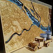 Картины и панно handmade. Livemaster - original item Map Of Saint Petersburg. Petrovsky Stadium, Zenit. Handmade.