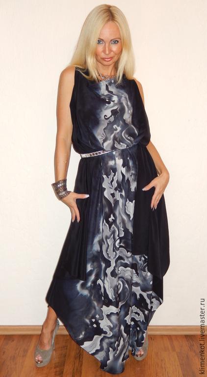 Платья ручной работы. Ярмарка Мастеров - ручная работа. Купить платье-Леди 1. Handmade. Черный, натуральный шелк, Праздник